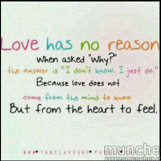 love with no reason