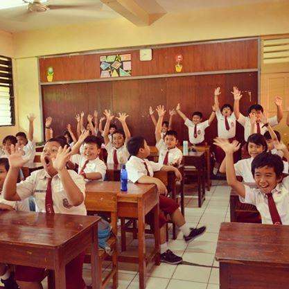 Antusiasme siswa/i SD Kenari 9 Salemba, Jakarta